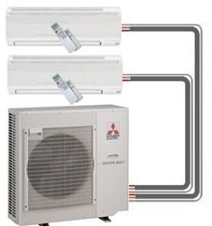 Mitsubishi Mr Slim Ductless Mini Split Heat Pump Thinkcertified
