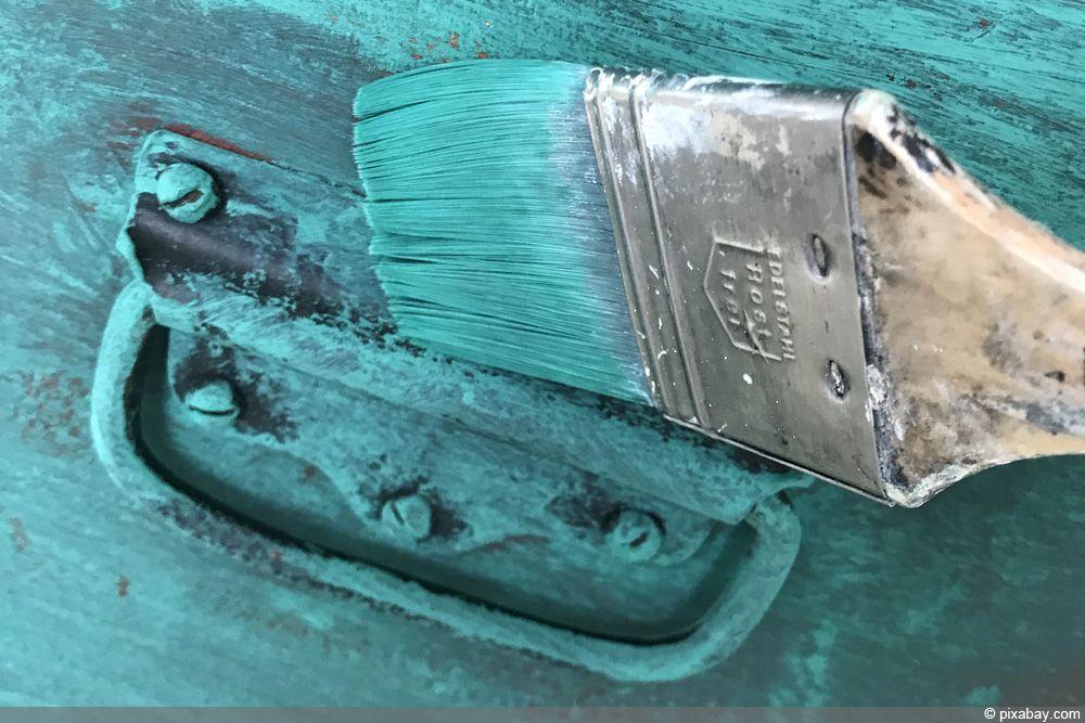 Kuche Gestrichen Mit Kreidefarbe Einfach Ohne Schleifen Und Lack Von Painting The Past Kuchen Streichen Kreidefarbe Kuche Farbe