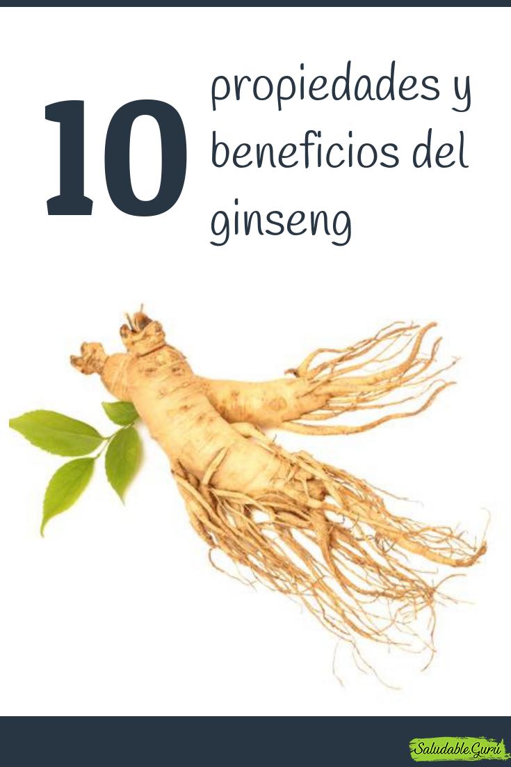 10 Propiedades Y Beneficios Del Ginseng Saludableguru Natural
