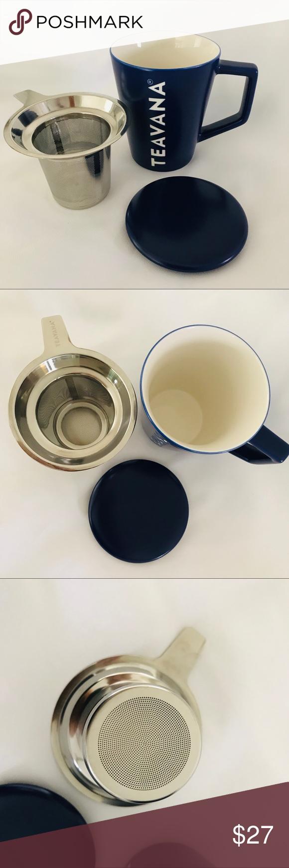 Starbucks Tevana tea mug with lid ,Infuser , white Tea