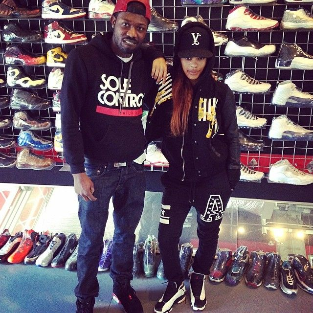 221bbf7cde7ed5 Teyana Taylor wearing Air Jordan XIII 13 Black Toe