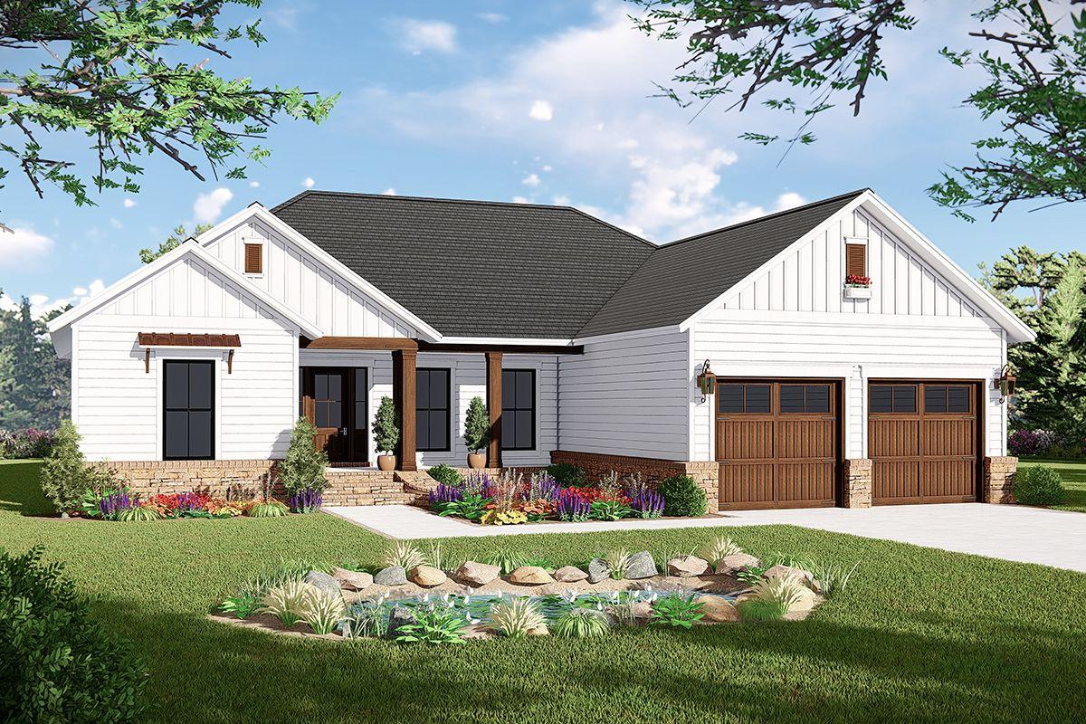 Modern Farmhouse House Plan 348