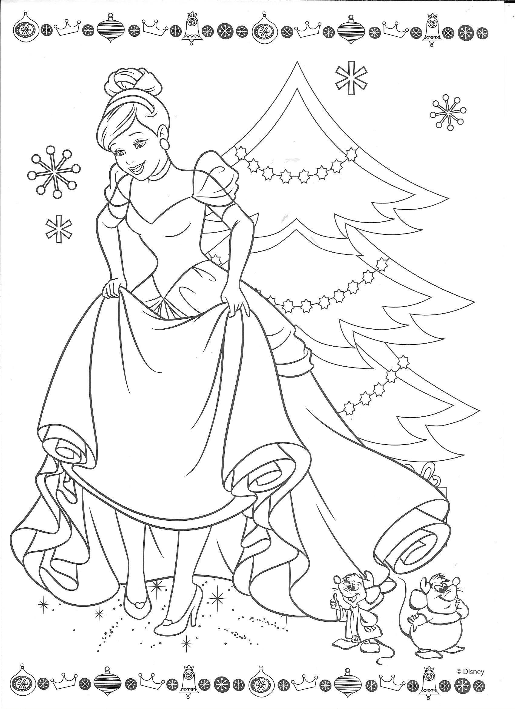 Cinderella Christmas Kid Stuff Disney Coloring Pages  Cinderella