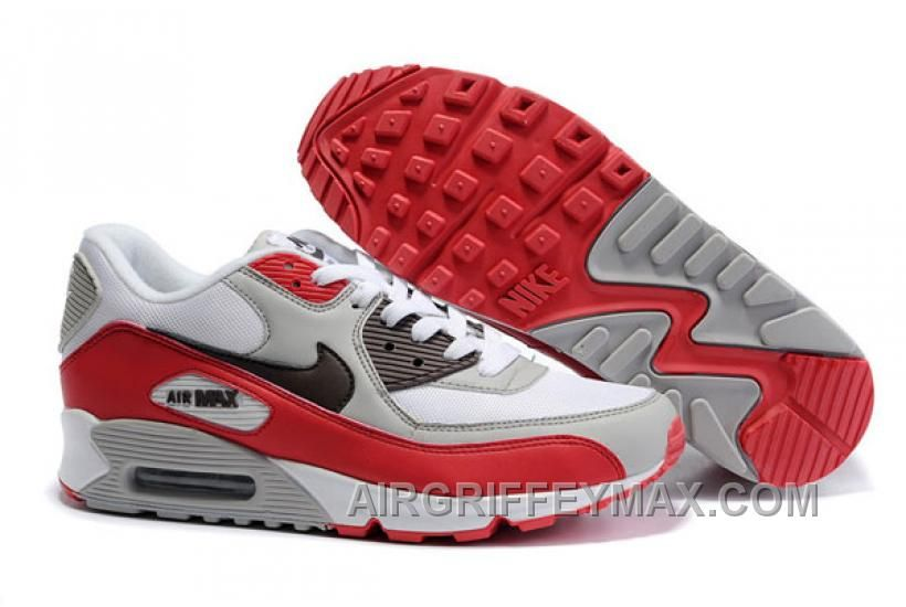 purchase cheap official images pick up New Arrival 309299 128 Nike Air Max 90 White Deep Burgundy Varsity ...