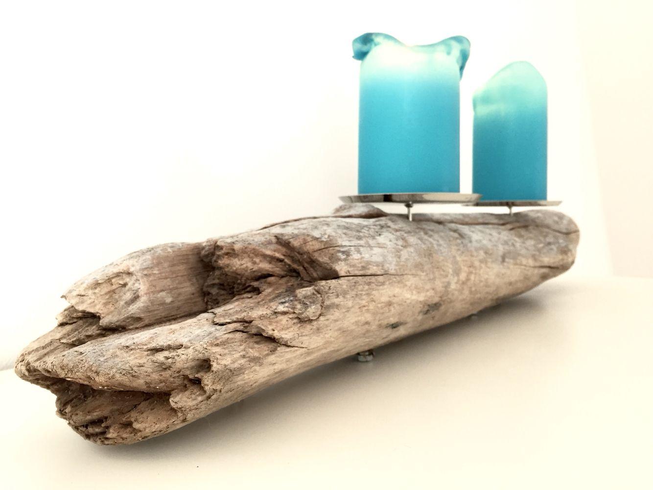 Kerzenständer aus Treibholz. Handgefertigt aus Norwegen. #Treibholz #driftwood
