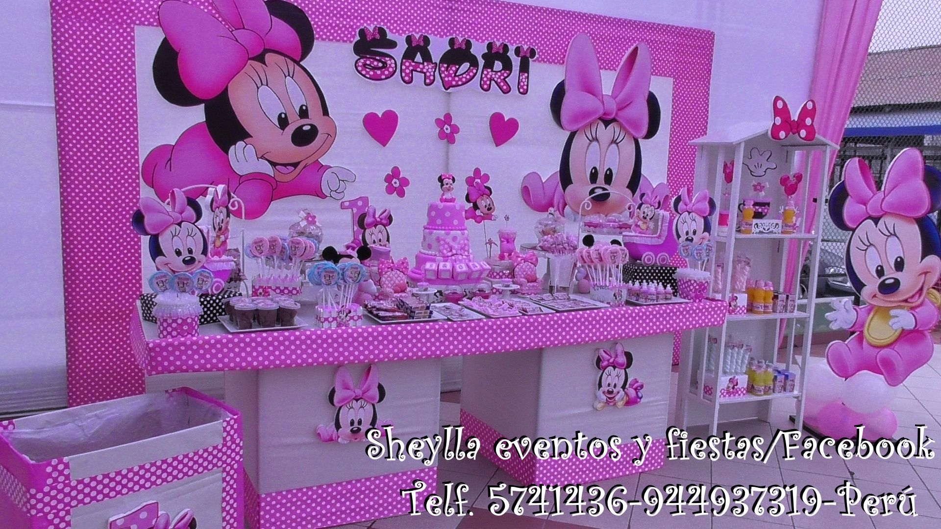 Decoraci n minnie bebe minnie mouse pinterest - Decoracion cumpleanos bebe ...