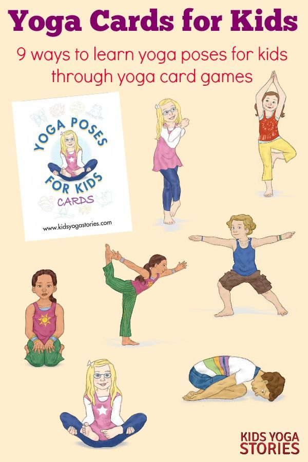 photo about Yoga Cards Printable named Tranquil Down Yoga Poses for Youngsters (Printable Poster) Mastering
