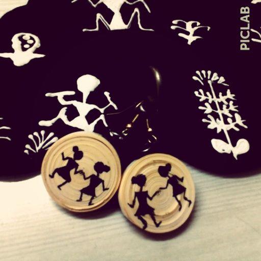 quilled warli earrings