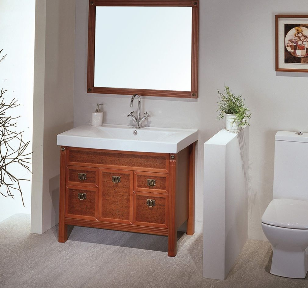 wooden bathroom sink cabinets. Dark Brown Unique Wooden Vanity Square Curved Porcelain Vessel