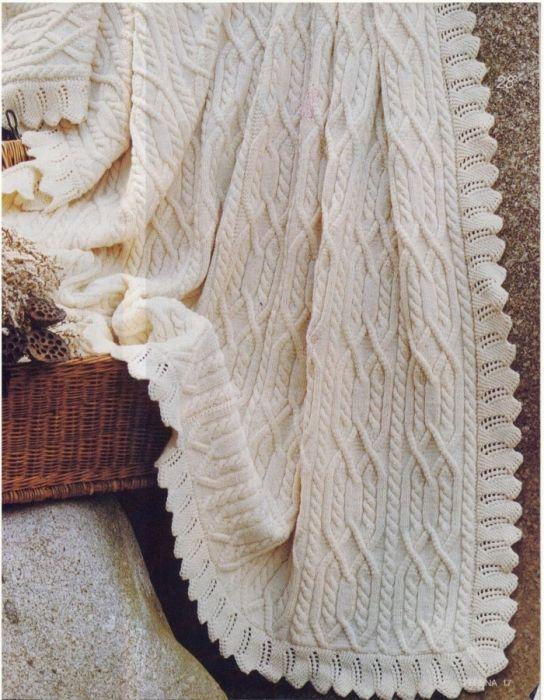 вязаное одеяло для новорожденного спицами 19 тыс изображений