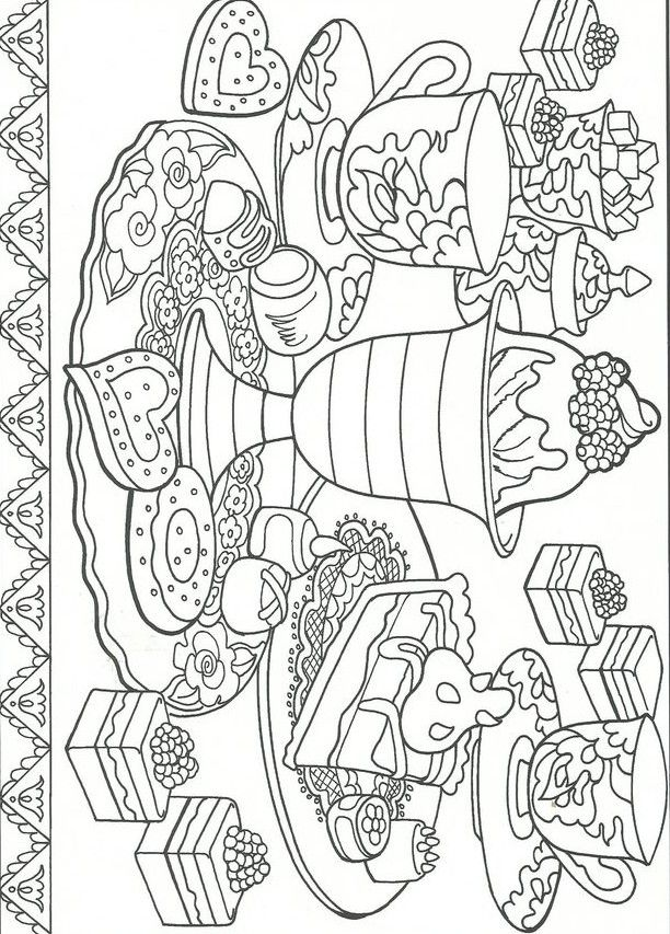 Desserts Coloring Pages Printable Coloring Pages Coloring Books