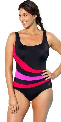 ec3ade51522f5 Aquabelle Womens Plus Size Chlorine Resistant Xtra Life Lycra RedOrchid  Spliced Sport Swimsuit 18 Red     See this great product.