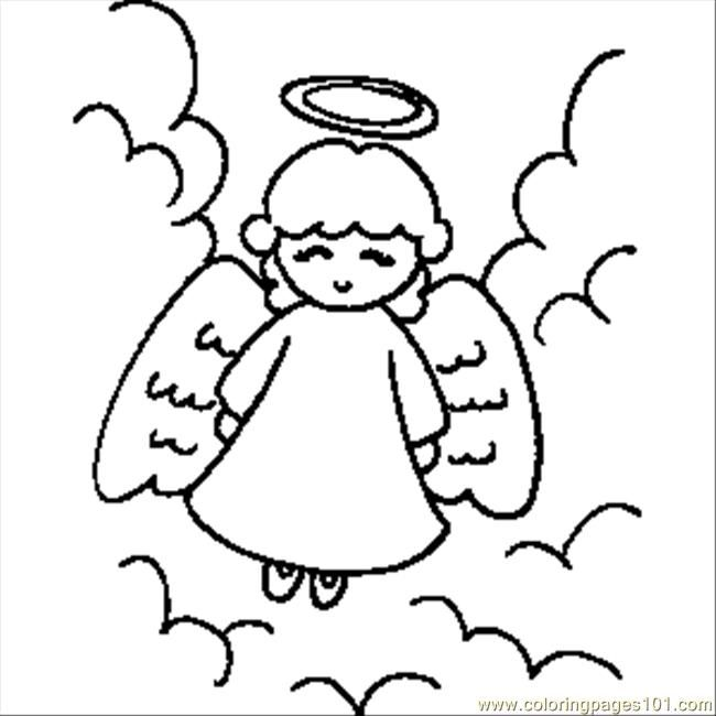 Beautiful Angel Coloring Pages | free printable coloring ...
