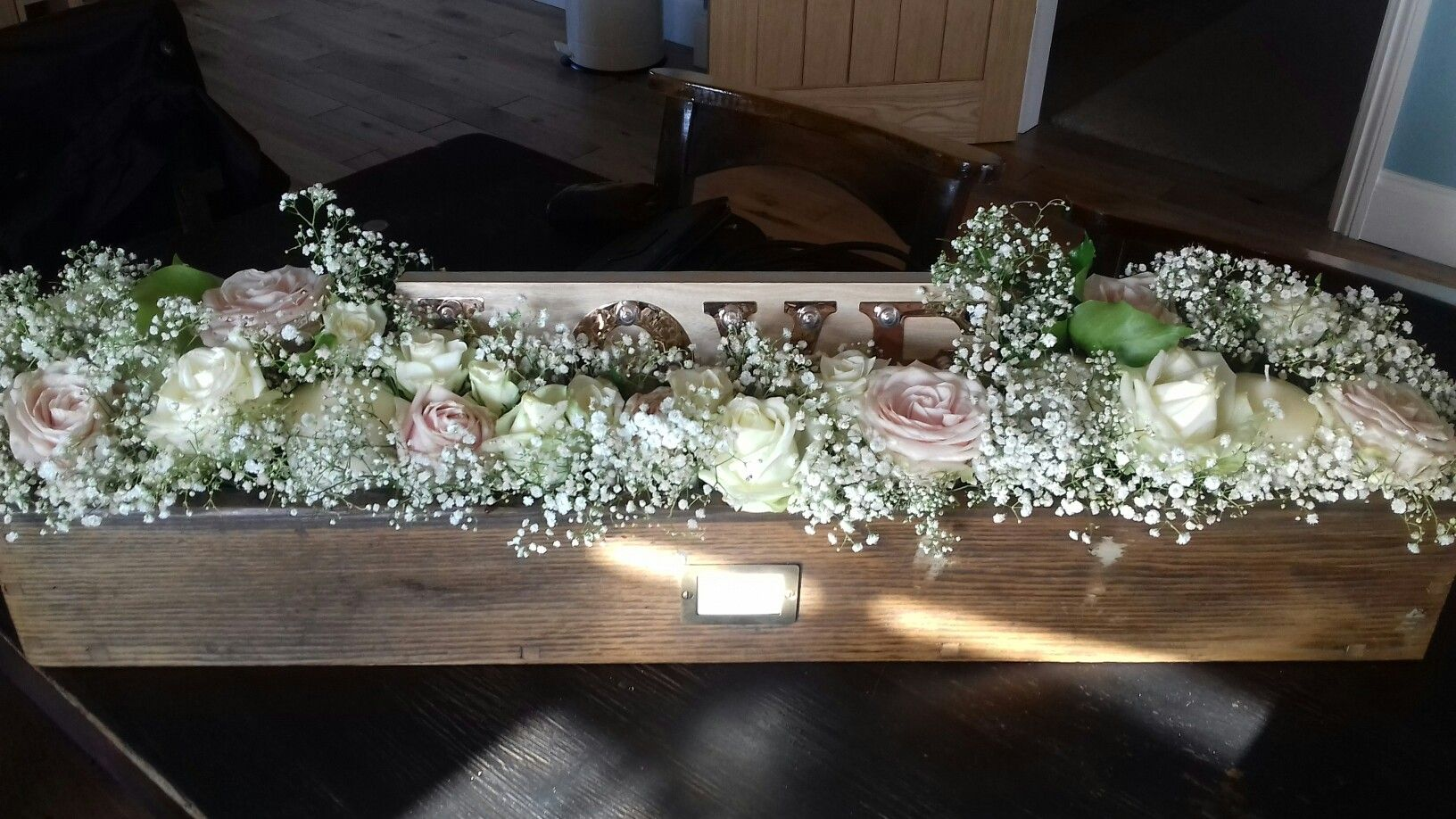 wooden daughter crafted centerpieces flowers