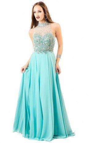 Aqua Sweetheart Embellished Dress 4058