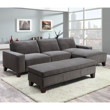 Orion Fabric Chaise Sectional With Ottoman 1100 At Costco