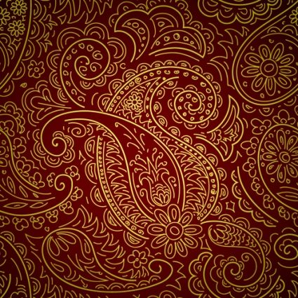 Set Of Brown Paisley Patterns Vector Free Vector In Encapsulated Postscript Eps Eps Format Format For Free D Paisley Art Paisley Pattern Paisley Wallpaper