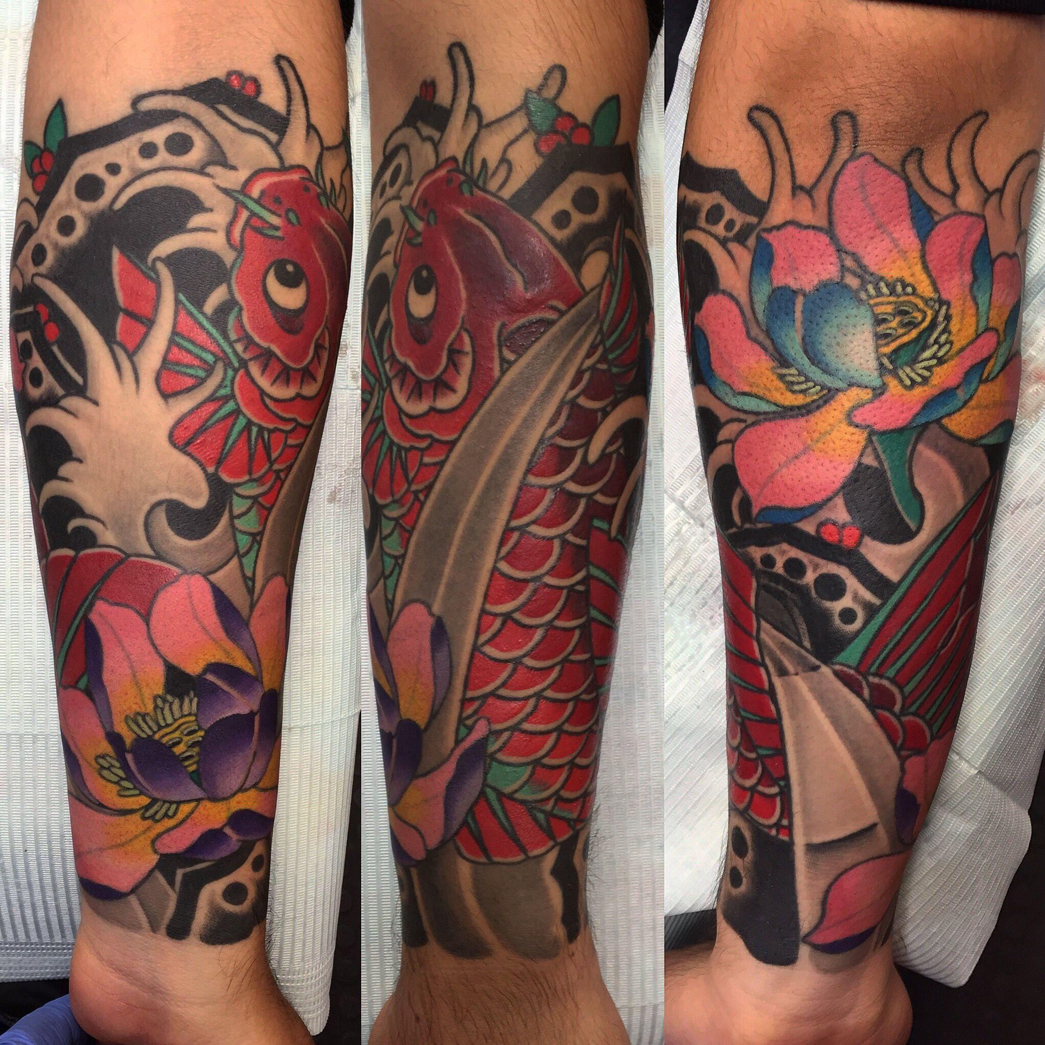 Koi fish tattoo by Jose Chalarca | Tattoos | Pinterest | Koi fish ...