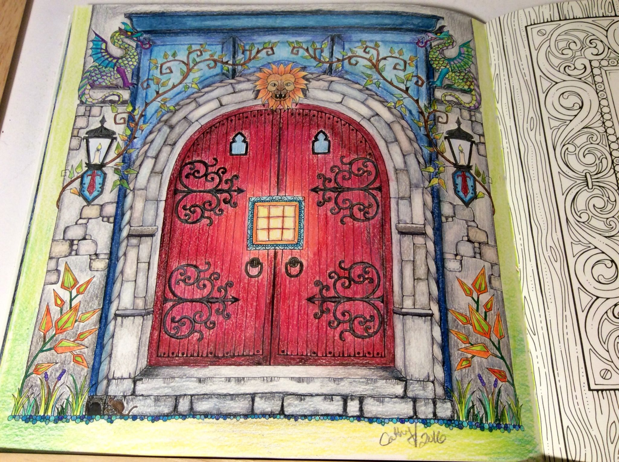Red door Enchanted Forest Johanna Basford. cathyc. pencil crayons. & Red door Enchanted Forest Johanna Basford. cathyc. pencil ... Pezcame.Com