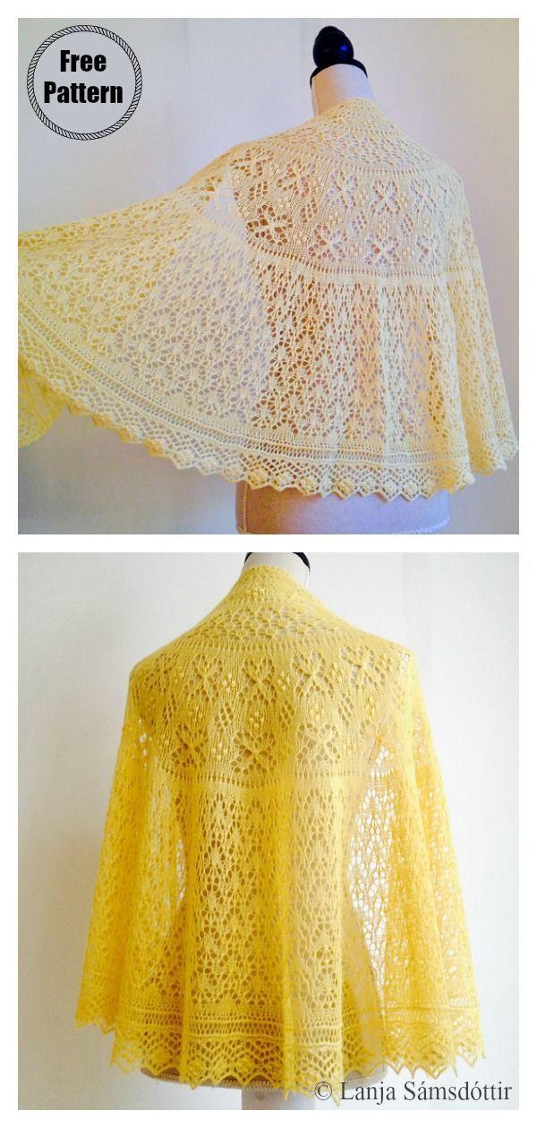 Lace Shawl Free Knitting Pattern #laceknitting