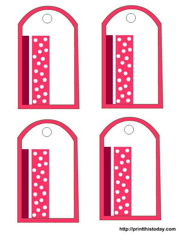 printable tags an elegant gift tag with polka dots free printable