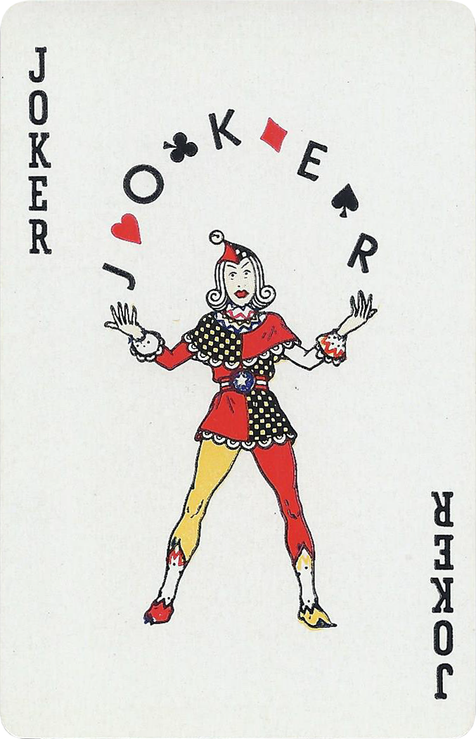 Joker Of The Day Harliquin Juggling Suits Of Cards Wild