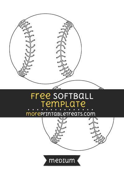 Free Softball Template - Medium   Baseball Printables