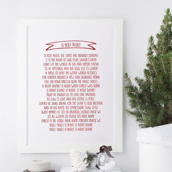 O Holy Night Christmas Carol Lyrics Modern Christmas | Holy night, O holy night, Christmas carol