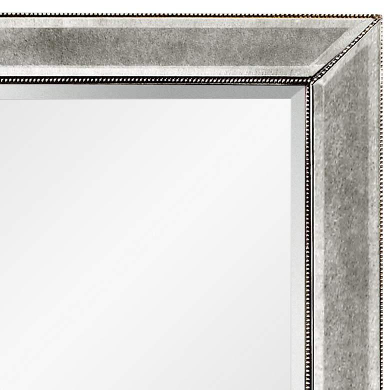 Hollywood Glam Silver Leaf 36 X 48 Beaded Wall Mirror 58k42 Lamps Plus Mirror Wall Mirror Lamps Plus 36 x 48 framed mirror