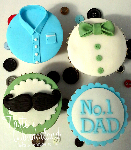 Super Cupcake Gallery A Taste Of Wonderland Cupcakes For Dad Fathers Personalised Birthday Cards Paralily Jamesorg