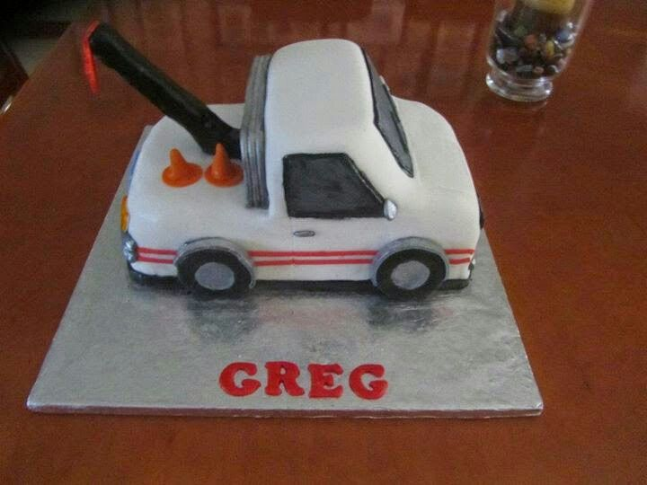 Tow Truck Cake My Bakes Pinterest Truck Cakes And Cake