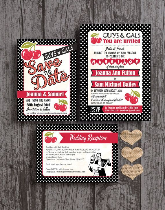 Personalised Retro Cherry Rockabilly Black And Red Polka Dot