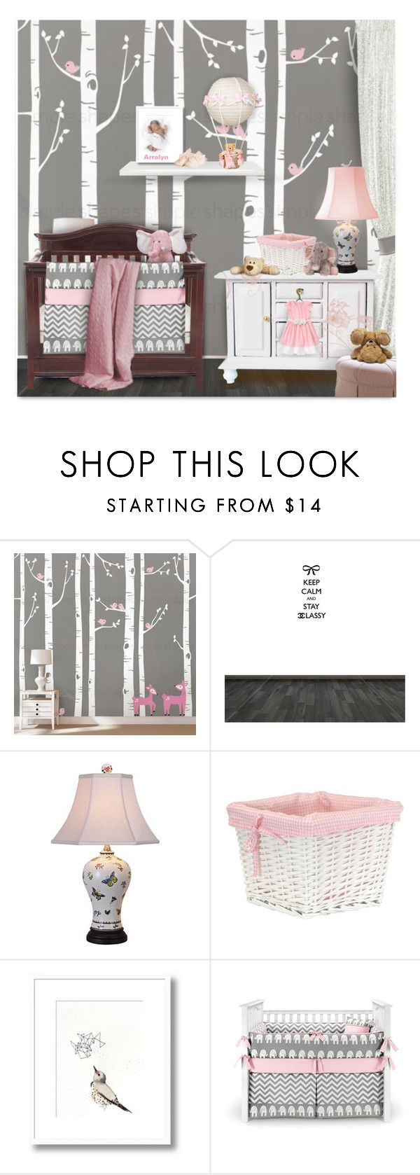 """""""Nursery"""" by passion-fashion-2 ❤ liked on Polyvore featuring interior, interiors, interior design, home, home decor, interior decorating, Universal Lighting and Decor, Redmon, Ganz and Gymboree"""