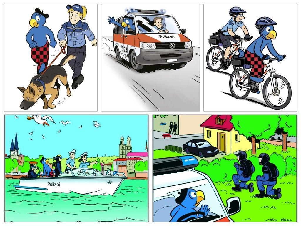 Goldraub In Zurich Globi Und Die Polizei Auf Verbrecherjagd Familienblog Die Angelones Verbrecher Polizei Jagd