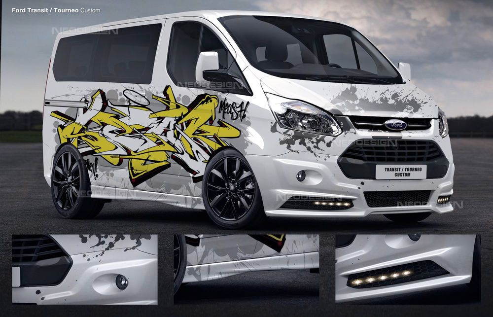 Ford Transit Custom Frontstange Tuning Spoiler Body Kit Front