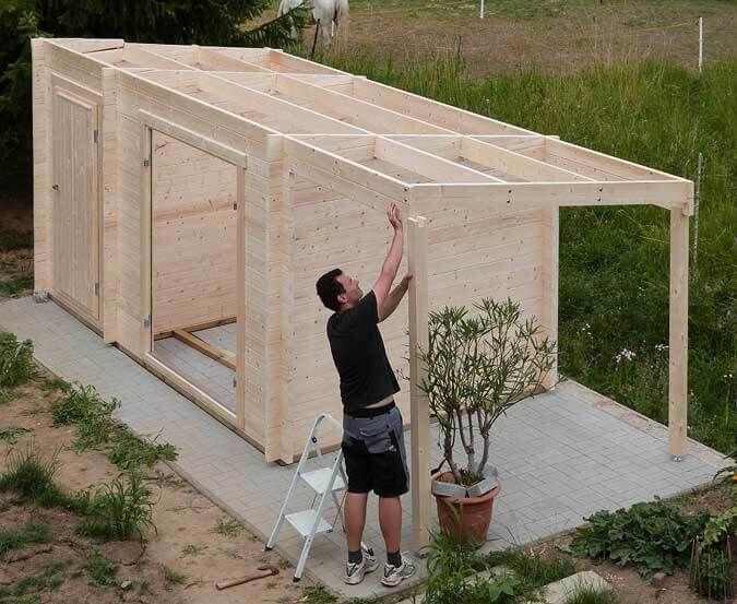 Gartenhaus Eine Aufbaugeschichte in Bildern in 2020