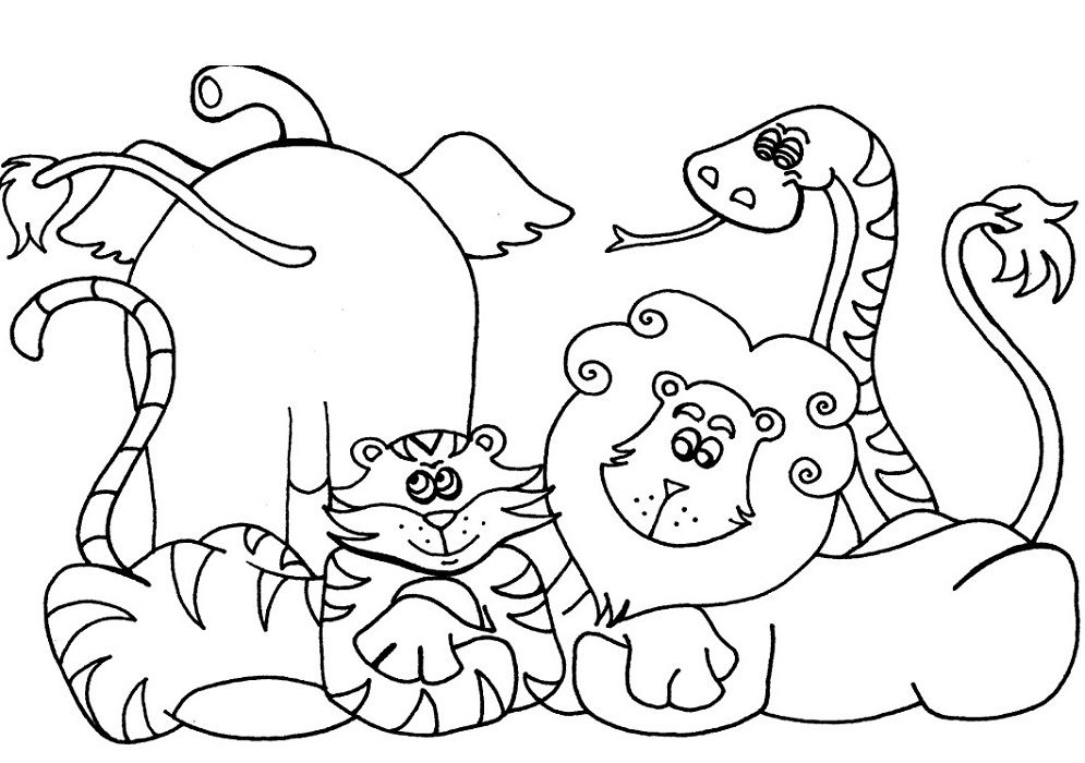 Preschool Coloring Pages Animal Coloring Pages Animal Coloring Books Spring Coloring Pages