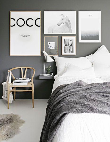 Bilderwand im Schlafzimmer. Gestaltungsbeispiele für Poster im ...