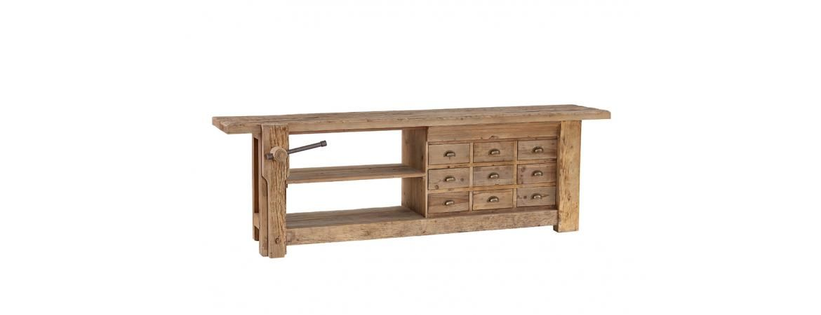 Workbench Sideboard with 9 Drawers