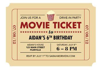 printable movie ticket invite today s parent lights camera