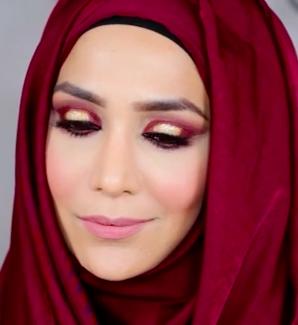 Warm Colors w/ Glitter Makeup Tutorial