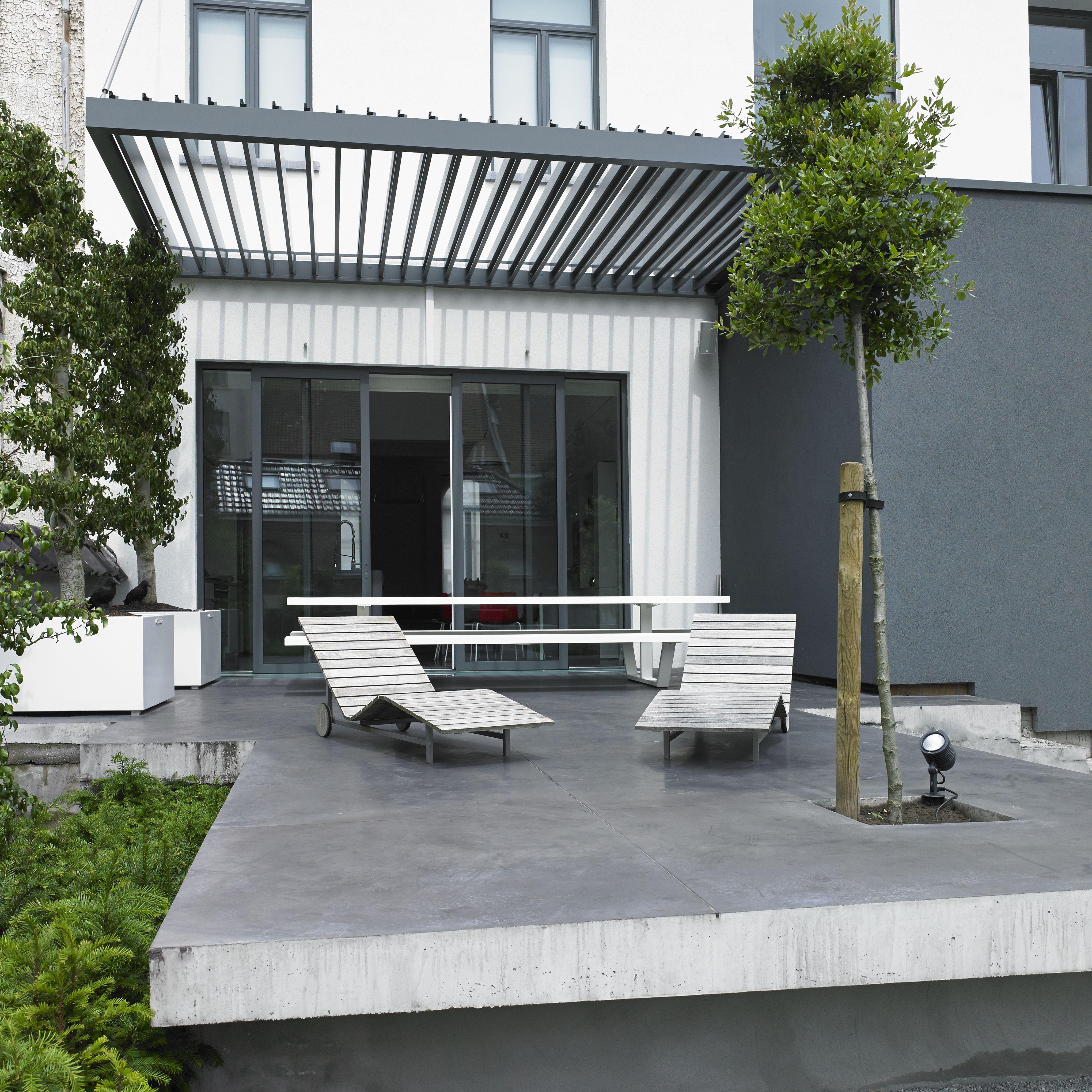 realisatie algarve lamellen zwevend te gent door horpirol. Black Bedroom Furniture Sets. Home Design Ideas