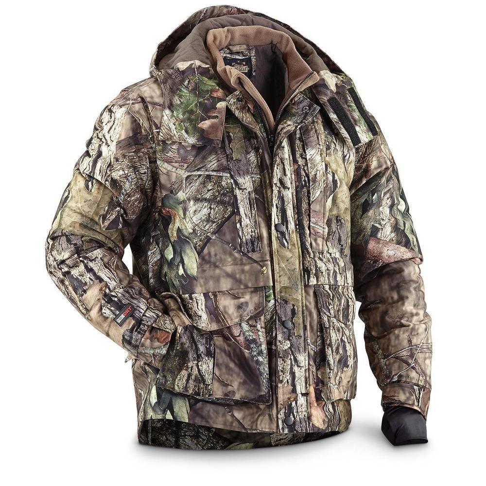 70ff24b50eb87 Men's Waterproof Hunting Jacket Breathable Insulated Size M L XL 2XL Mossy  Oak…