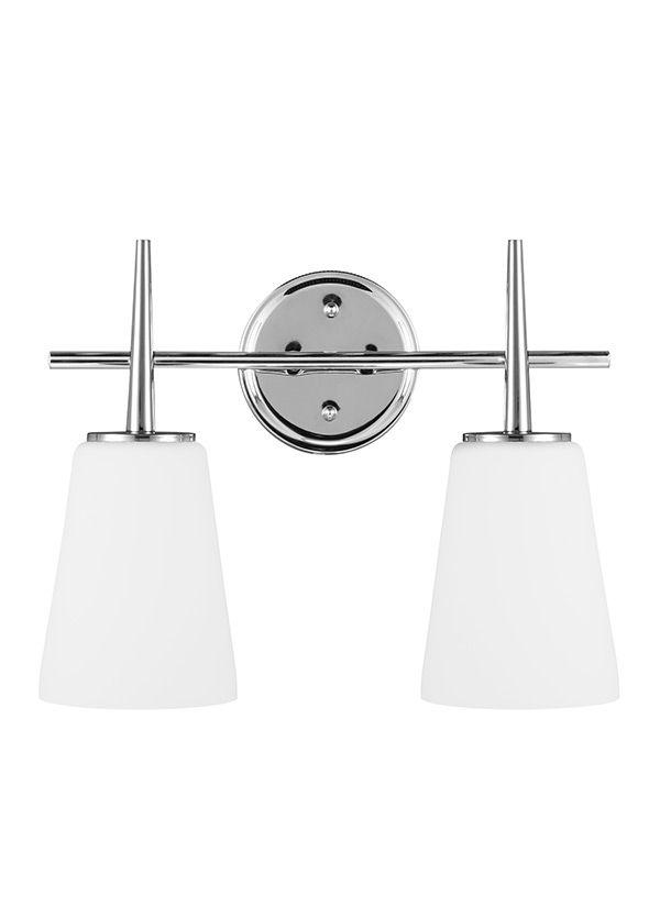 Seagull Lighting Two Light Wall Bath Bathroom Finalist - Seagull bathroom lighting