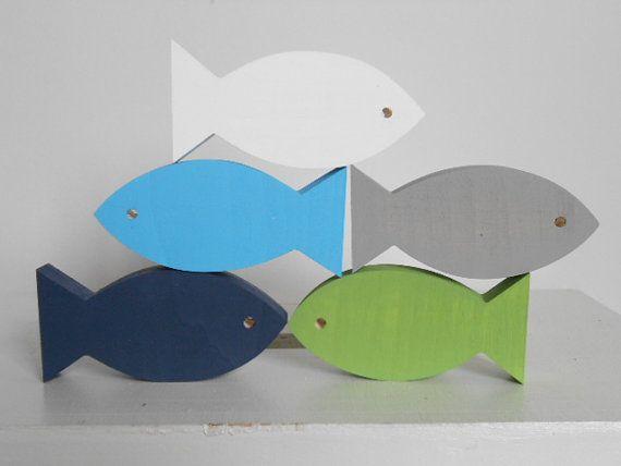 Sophisticated Modern Nautical Nursery: Modern Nautical Nursery Fish - Beach Decor