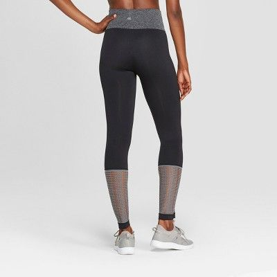 17b251b9430e Women s Seamless Mesh Mid-Rise Capri Leggings 23 - C9 Champion Black ...