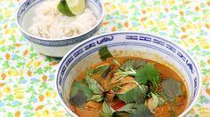 Thaise rode curry met kip en jasmijnrijst | VTM Koken