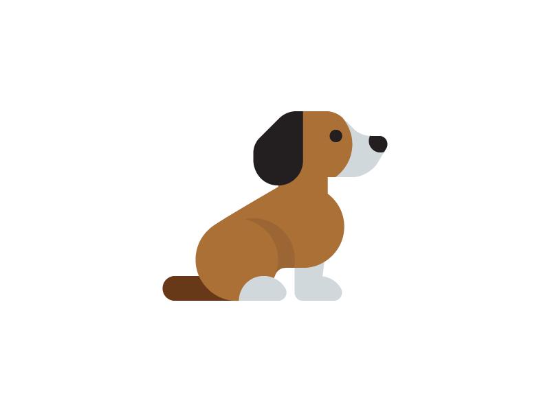 beagle puppy art dog icon pet dogs beagle puppy