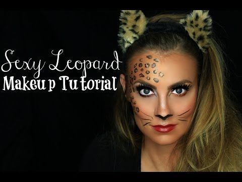 sexy leopard cat halloween makeup tutorial angela. Black Bedroom Furniture Sets. Home Design Ideas
