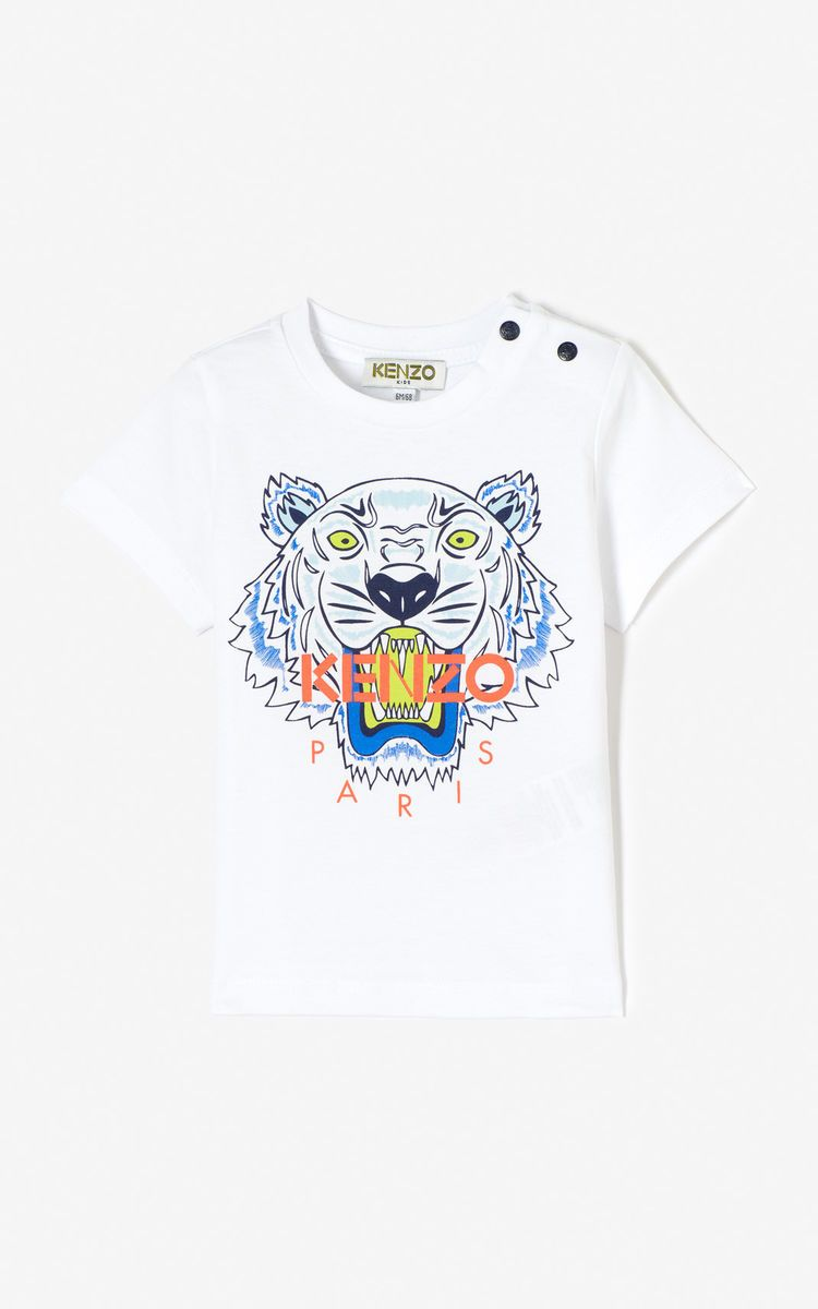 d47aaf0e WHITE Tiger t-shirt for men KENZO | L&C Drop off gifts | Tiger t ...